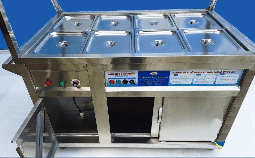 tủ giữ nóng thức ăn 8 khay