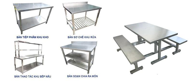bàn inox công nghiệp