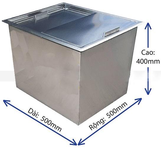 thùng đá inox âm bàn TDIAB554